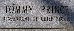 Tommy Prince Monument inscription B
